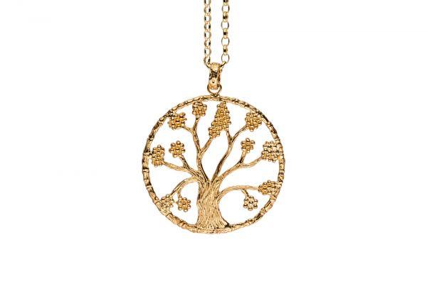 Julie Julsen Lebensbaum L in 925 Silber Vergoldet