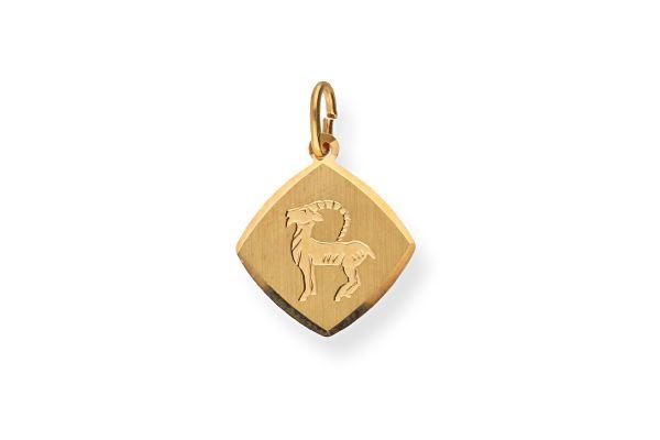 Sternzeichen Steinbock - Anhänger 333 Gold