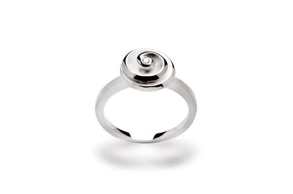 Bastian Ring 925 Silber mit 0,015 ct Diamant