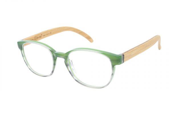 Edelweyes Brille TORSTEIN - Acetat - Grün-Verlauf - Bambus