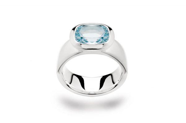 Bastian inverun Ring Silber 925 mit Blautopas - 20611-54