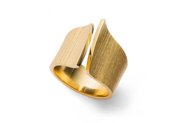 Bastian inverun Ring Silber 925 vergoldet - 27780-54