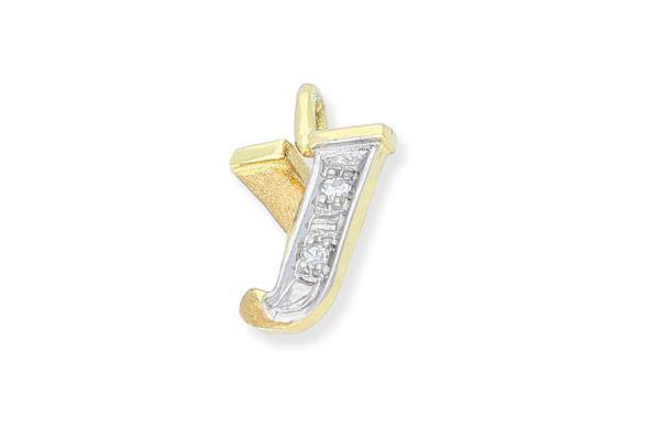 585 Gold Anhänger Buchstabe Y mit Diamanten