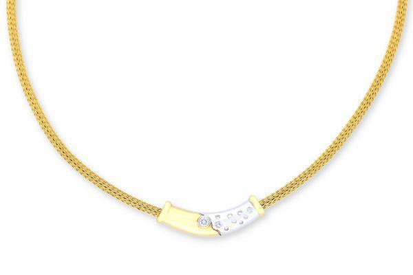 Collier 585 Gelbgold • Weißgold • Brillanten