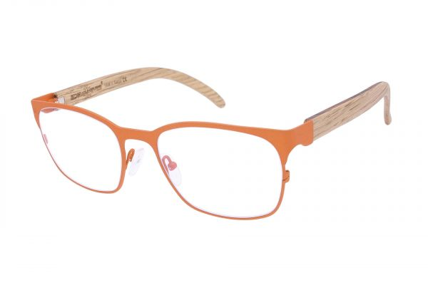 Edelweyes Brille KNITTENFELD - Metall - Orange - Eichenholz