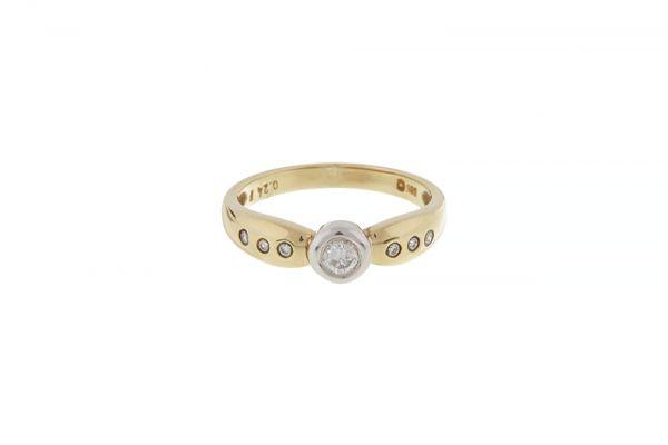 Ring 585 Gelbgold mit Brillanten in Gr. 55