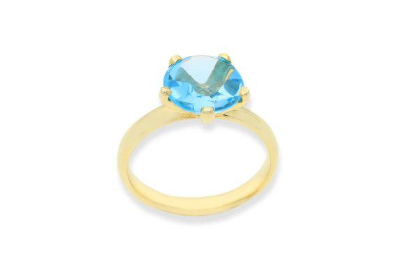 Bastian Ring mit Blautopas Gold 585