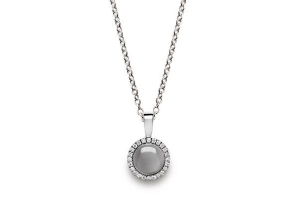 Bastian Anhänger 925 Silber mit Mondstein und Diamanten