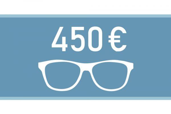Gutschein für eine Brille im Wert von 450€