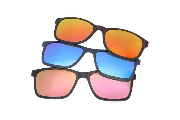Ersatz-Sonnenclip für Solano Brille, verspiegelt