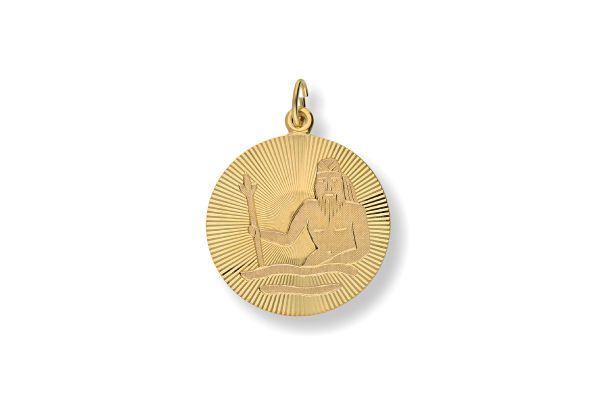 Sternzeichen Wassermann - Anhänger 333 Gold
