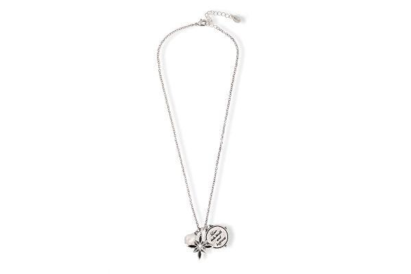 Miglio Halskette N1608 versilbert mit Anhänger und Perle