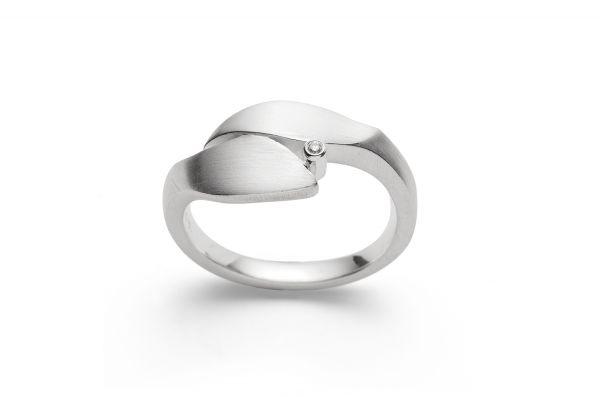 Bastian Ring 925 Silber mit 0,01 ct Diamant