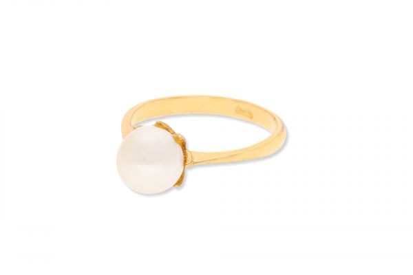 Ring 585 Gelbgold • Perle
