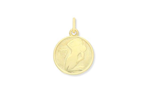 Sternzeichen Jungfrau - Anhänger rund 333 Gold