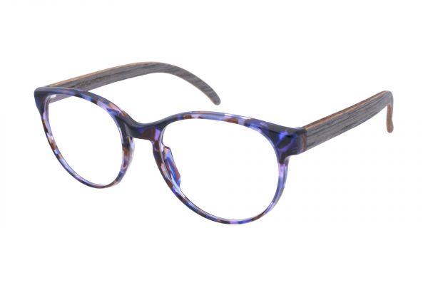 Edelweyes Brille ATTERKOGEL - Crazy Blue - Eichenholz Grau