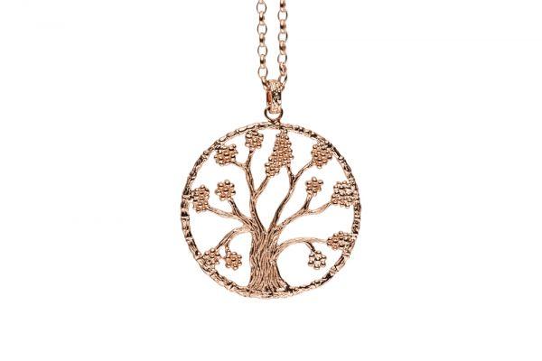 Julie Julsen Lebensbaum L in 925 Silber Rosévergoldet