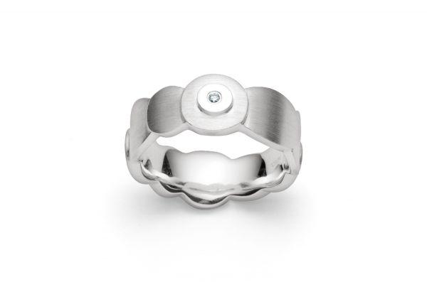 Bastian Ring 925 Silber mit 0,02 ct Brillant