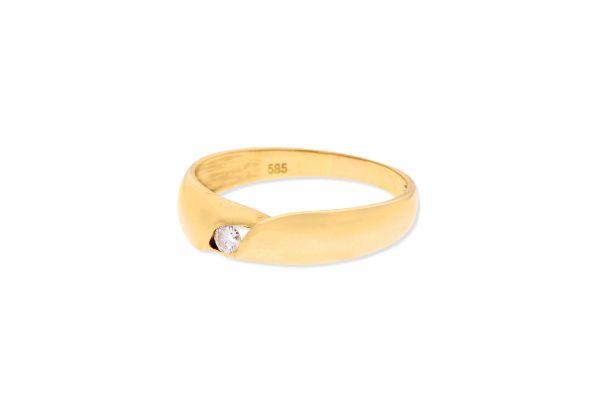 Ring 585 Gelbgold • Brillant