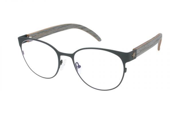 Edelweyes Brille MARIA ZELL - Neusilber - Anthrazit - Palisander