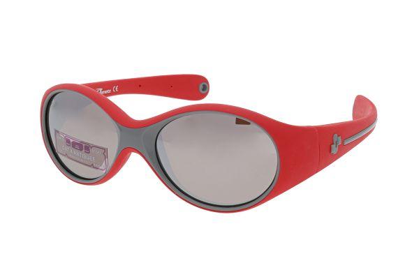 Demetz Sonnenbrille Baby Clip Rot / Grau mit Band