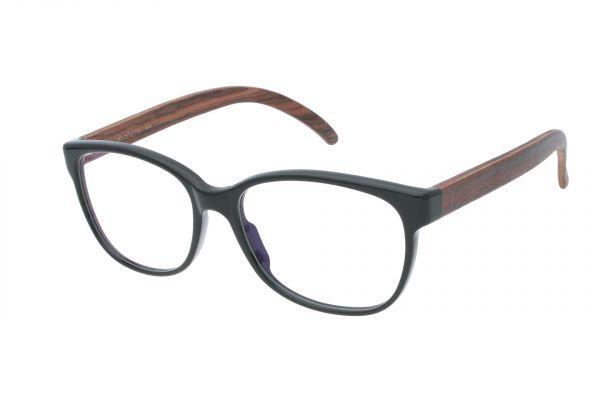 Edelweyes Brille AMMERINGKOGEL - Acetat - Schwarz - Palisander