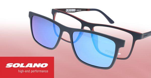 Wunsch Solano Brille mit polarisiertem Magnet Sonnenclip