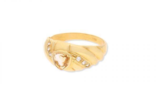 Ring 750 Gelbgold • Citrin • Zirkonia