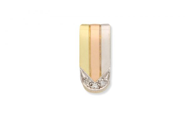 Anhänger 585 Gold • Diamanten • Vorderansicht