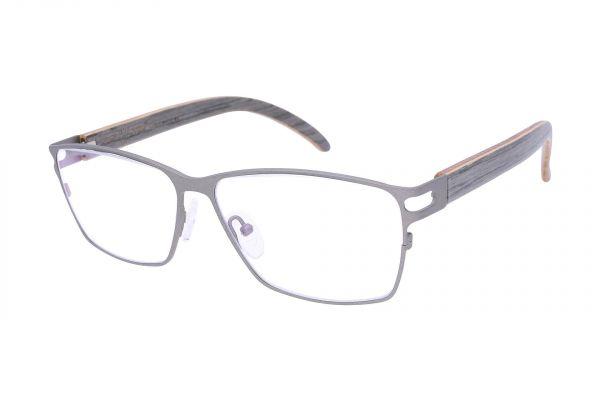 Edelweyes Brille LEOBEN - Anthrazit - Eichenholz Grau