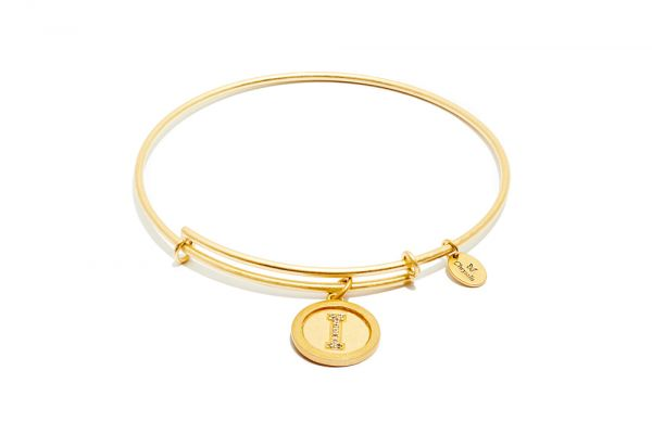 Chrysalis Bangle Initials - Gold I