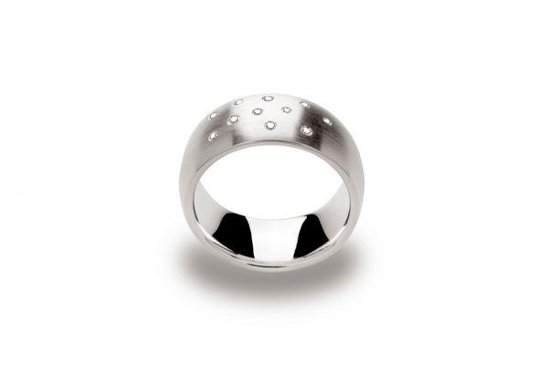 Bastian Ring 925 Silber mit 0,08 ct Diamanten