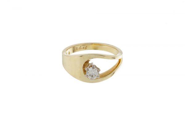 Ring 585 Gelbgold • Brillant • Vorderansicht