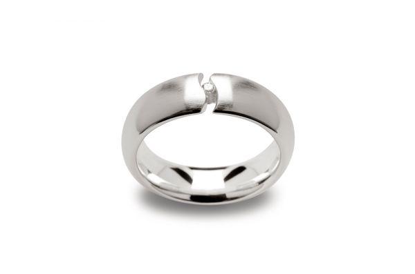 Bastian Ring 925 Silber mit 0,03 ct Diamanten