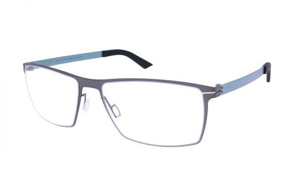 Grafix Brille GX 6129/15 mit leicht gebogenen Gläsern • Titan