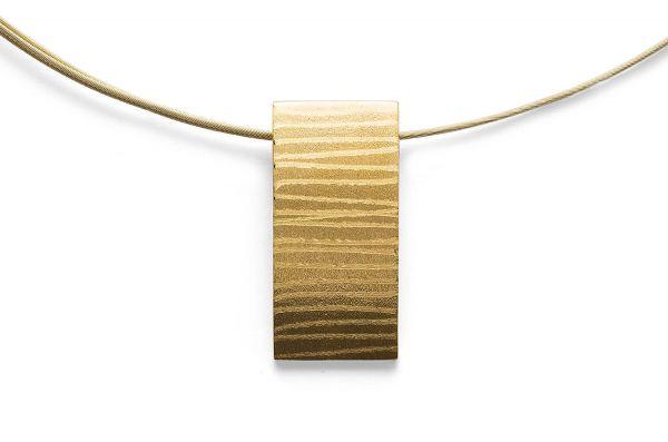 Bastian Anhänger rechteckig Silber 925 vergoldet - 27800
