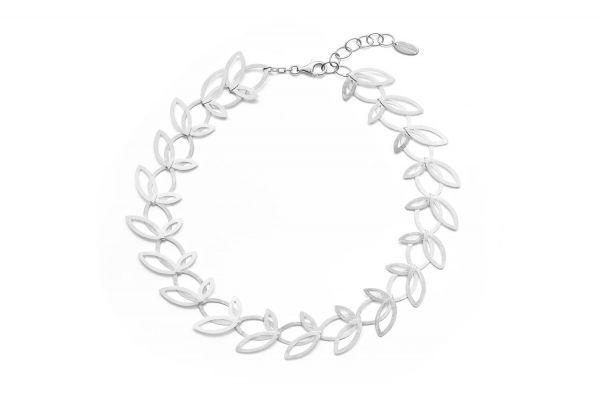 Bastian inverun Florales Collier Silber 925 - 23860