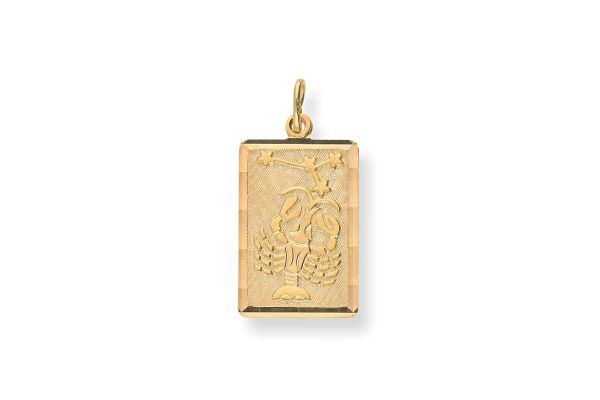 Sternzeichen Krebs - Anhänger 333 Gold
