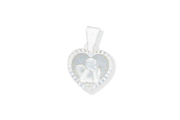 925 Silber Schutzengel Anhänger Herz