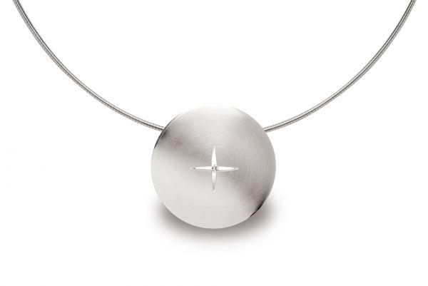 Bastian Anhänger 925 Silber mit 0,04 ct Diamant
