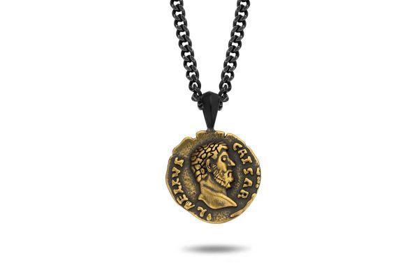 Frank1967 Halskette mit Römischer Münze Edelstahl