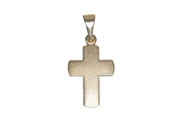 333 Gold Kreuz Anhänger