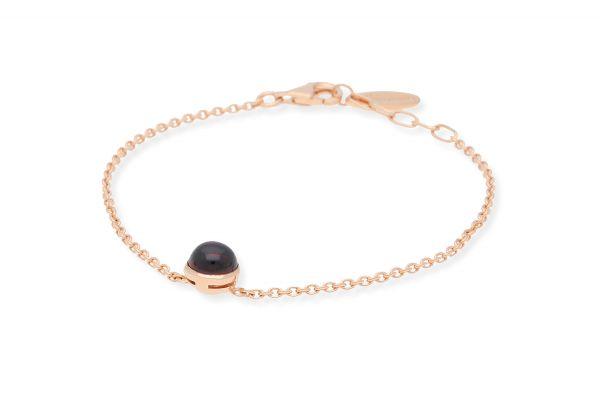 Bastian Armband 925 Silber rosévergoldet mit Granat - 12648