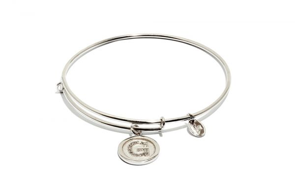 Chrysalis Bangle Initials - Silber G