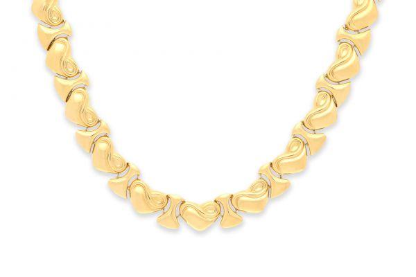 Collier 750 Gelbgold • Saphire • Detail