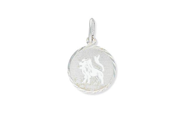 Sternzeichen Löwe - Anhänger rund 925 Silber