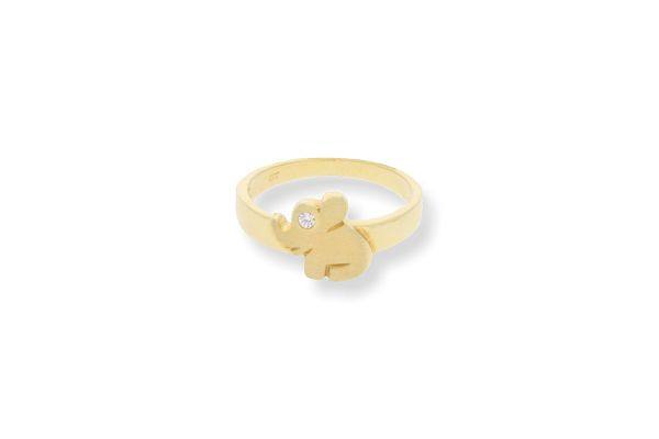 Kinderring 333 Gelbgold • Elefant • ZIrkonia