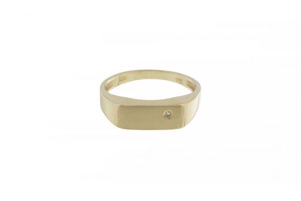 Ring 333 Gelbgold mit Diamant in Gr. 56