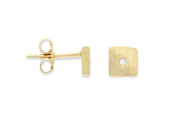Bastian inverun Ohrstecker Gold 585 mit Diamanten - 4335