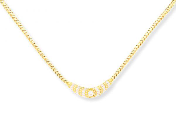 Collier 750 Gelbgold • Weißgold • Brillanten